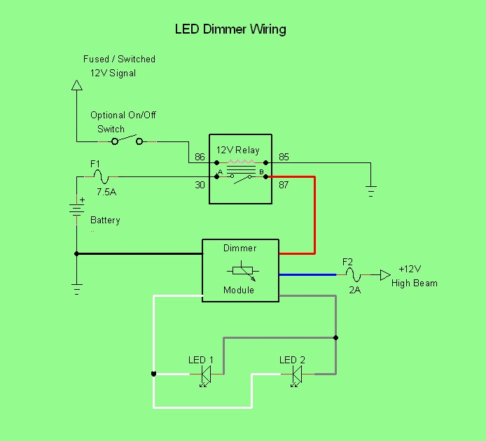 led headlight wiring diagram for motorcycle led dimmer wiring led rider on led headlight wiring diagram for motorcycle